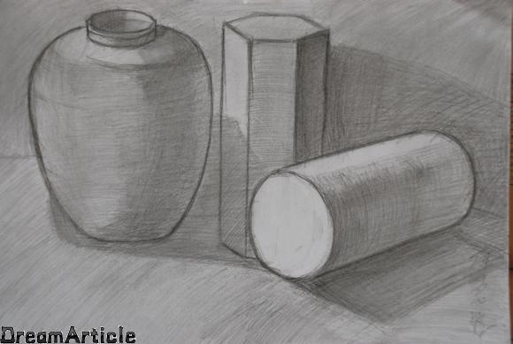 初一绘画风景图简单版