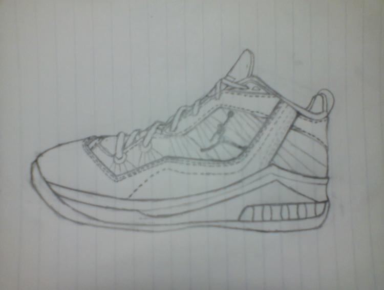 简单篮球铅笔画