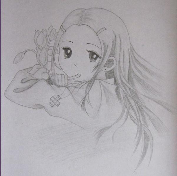 小学生铅笔画风景图片