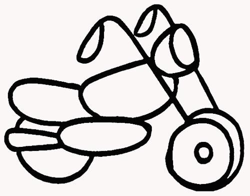 警用摩托车手绘