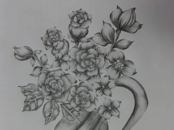 送朋友素描描花朵图片步骤