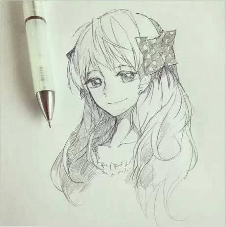 最可爱的小孩子素描画