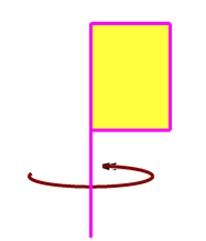 下面长方形小旗旋转一周,得到的图形是图片