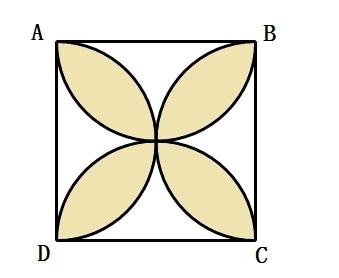 用4个半圆设计图案