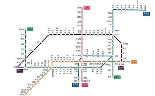 下图是深圳市地铁线路图.
