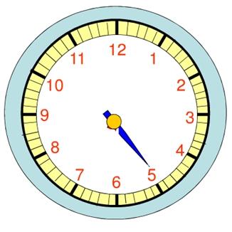 七点时钟的简笔画-下面钟表缺少时针,假设现在时间是9 25,那么时针